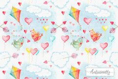 Watercolor sky cute seamless pattern Product Image 1