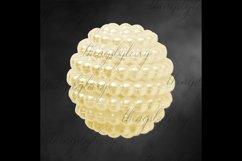 100 Pearl Pomander Digital Clip Art Jewelry Pearl Ball Image Product Image 6