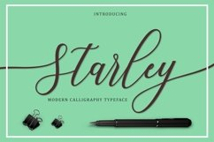Web Font Starley Script Product Image 1