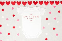 Valentine's Day Mockup Baby Onepiece  JPG PSD smart object Product Image 2
