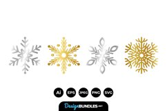 Gold and Silver Snowflakes Product Image 1