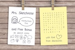 Mrs. Sketchnote Handwritten Font Product Image 1