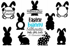 Easter Bunny Silhouette, Easter Bunny SVG, Easter Rabbits Product Image 1