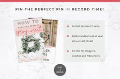 Pinterest Templates for Canva | Pin Templates | Pink & Grey Product Image 4