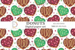 Donuts Digital Papers  12 x 12 inches 300DPI JPG files Product Image 6