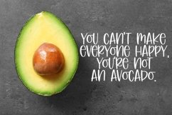 Web Font Avocado Salad - A Cute Hand-Lettered Font Product Image 2