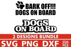 2x Dog On Board Bundle svg, Dog Breed, Love Dog svg, Paw svg Product Image 1