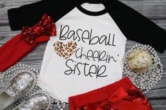 Leopard Baseball Heart - Baseball Cheerin' Sister SVG Product Image 1