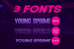 Young Sprime 3 Font Product Image 6