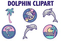 Beach Dolphin Icons Product Image 1