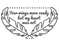 Your wings were ready svg, your wings were ready but our hearts were not svg, your wings were ready but my heart was not svg, svg files, svg Product Image 4