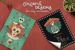 Hand Drawn Day of the Dead Set: skull party! Product Image 4