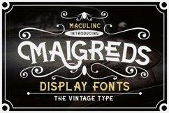 Maigreds Display Font Product Image 1