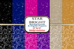 "2 Designs of 6 colours - 12"" x 12"" - Star Bright Set Product Image 1"