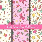 Cute Seamless Patterns. Prints for kids products Product Image 1