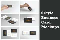 6 Style Business Card Mockups Product Image 1