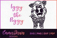 IGGY THE PIGGY SVG MANDALA / ZENTANGLE DESIGN Product Image 1