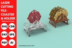 Coaster Holder- SVG - Laser cutting File Product Image 2