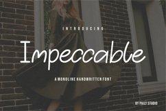 Impeccable Monoline Handwritten Font Product Image 1