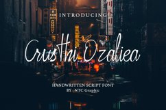 Crusthi Ozaliea Handwritten Script Font Product Image 1
