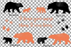 Baby and mama bear nursery clip art collection, bears print Product Image 2