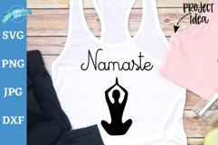 Namaste svg cut file, Yoga pose svg, Yoga shirt, Yoga tank Product Image 1