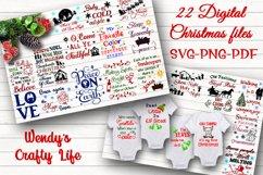 Christmas digital bundle of 22designs - SVG, PNG & PDF Product Image 1