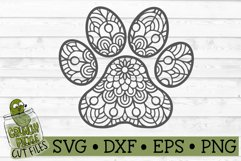 Mandala Paw Print SVG Cut File Product Image 2