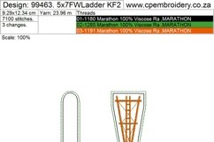 Farmhouse Windmill with Ladder Key Fob Embroidery Design Product Image 5
