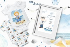 Watercolor Sea adventure. Clipart, seamless patterns, cards Product Image 5