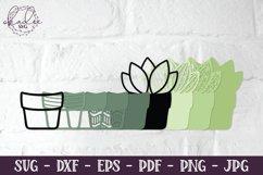 3D Cactus Mandalas, Layered Cactus, Papercut Succulent, DXF Product Image 5