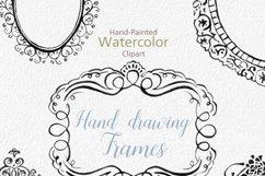 Digital Download Watercolor Cliparts Frames Flourish Digital Product Image 2