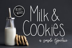 Milk & Cookies a Simple Typeface Product Image 1