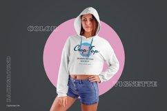 8 Women Crop Top Hoodie Mockups Product Image 3