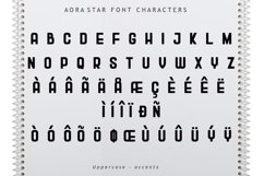 Aora star Font Product Image 6