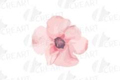 Blush watercolor floral wedding clip art, pink flowers leafs Product Image 12