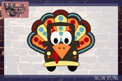 Whimsy Turkey Truck SVG, DXF, PNG, EPS Commercial Product Image 2
