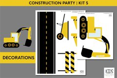 Construction birthday party printable decorations, party kit Product Image 5