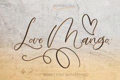 Love Mango. Script font with doodles Product Image 1
