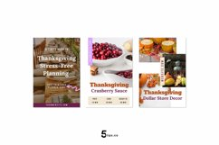 Thanksgiving Scroll Stopping Food Blogger Pinterest Pin Pack Product Image 4