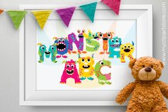 Girl Monsters Alphabet Clipart, ABC Letters - Vector Clipart Product Image 3