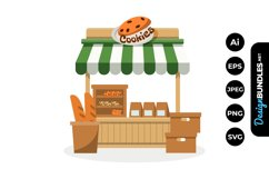 Cookies Stall Market Illustrations Product Image 1