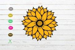 sunflower svg ,sunflower cut file design,sunflower design Product Image 1