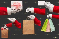 Christmas overlays Santa Claus Hand clipart png Photoshop Product Image 2
