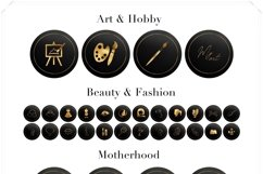 Gold on Black Instagram Story Highlight Covers Product Image 2