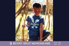 Easter Bunny Ears Split Monogram svg png eps Product Image 5