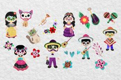 Day of the Dead clipart - Sugar Skull - Dia de los muertos Product Image 3