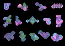 Playful Geometry. 42 vector isometric shapes Product Image 2