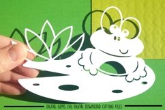 Frog paper cut SVG / DXF / EPS files Product Image 1