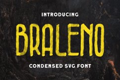 Braleno - Condensed SVG Font Product Image 1